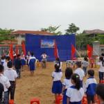 Các học sinh tích cực hưởng ứng tham gia ngày hội